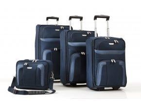 Travelite Orlando S,M,L – sada 3 kufrů + Boarding Bag Navy  + PowerBanka nebo pouzdro zdarma