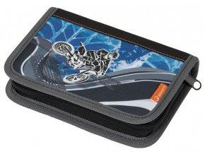 Bagmaster CASE ALFA 6 C BLACK/BLUE/ORANGE Školní penál klučičí