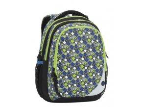 Bagmaster MAXVELL 6 B GREY/GREEN/BLUE Klučičí školní batoh