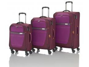 Travelite Meteor 4w S,M,L Berry – sada 3 kufrů  + PowerBanka nebo pouzdro zdarma