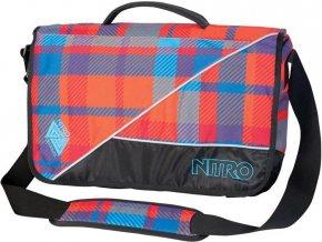NITRO taška EVIDENCE XL BAG plaid red-blue