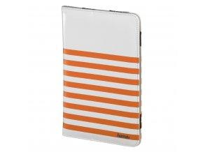 """Hama Stripes pouzdro na tablet do 20,3 cm (8""""), bílé s oranžovými proužky"""