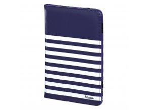 "Hama Stripes pouzdro na tablet do 20,3 cm (8""), modré s bílými proužky"