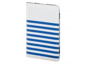 """Hama Stripes pouzdro na tablet do 20,3 cm (8""""), bílé s modrými proužky"""
