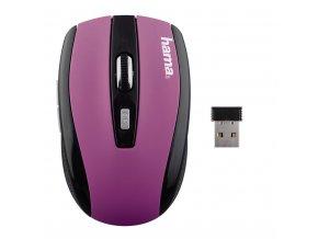 Hama optická bezdrátová myš AM-7800, fialová