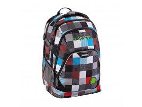 Školní batoh Coocazoo EvverClevver2, Checkmate Blue Red  + PowerBanka nebo pouzdro zdarma