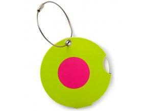 Jmenovka na kufr Addatag - Dot pink