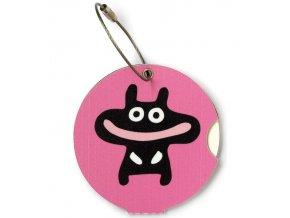Jmenovka na kufr Addatag - Happy pink