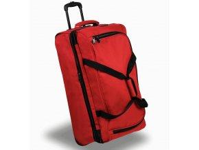 Cestovní taška na kolečkách MEMBER'S TT-0032 - červená  + PowerBanka nebo pouzdro zdarma