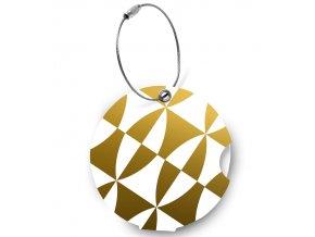 Jmenovka na kufr Addatag - Gold and white