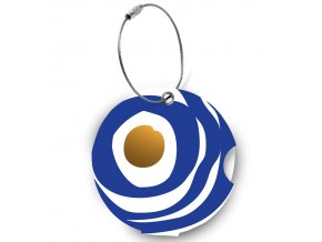 Jmenovka na kufr Addatag - Circle blue