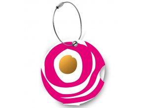 Jmenovka na kufr Addatag - Circle ruby