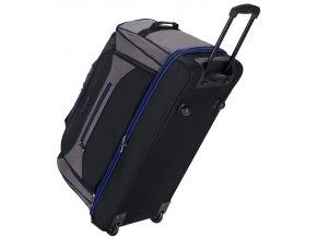 """Cestovní taška na kolečkách SIROCCO T-7554/30"""" - černá/šedá/modrá  + Pouzdro zdarma"""
