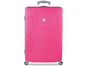 Cestovní kufr SUITSUIT® TR-1227/3-M ABS Caretta Shocking Pink  + PowerBanka nebo pouzdro zdarma