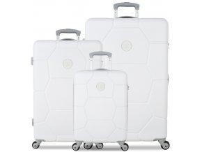 Sada cestovních kufrů SUITSUIT® TR-1232/3 ABS Caretta Sea Shell White  + PowerBanka nebo pouzdro zdarma
