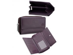 Dámská kožená peněženka METRO P03 - hnědá