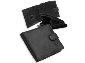 Pánská kožená peněženka METRO MTB07 - černá/červená