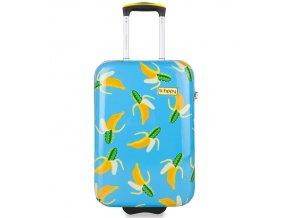 Kabinové zavazadlo B.HPPY BH-1601/3-S - Bananauwch!  + Pouzdro zdarma