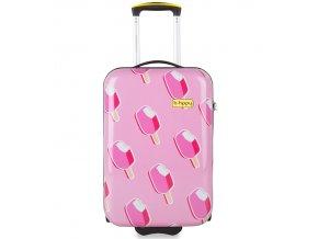Kabinové zavazadlo B.HPPY BH-1602/3-S - Ice on Holiday  + Pouzdro zdarma