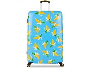 Cestovní kufr B.HPPY BH-1601/3-M - Bananauwch!  + PowerBanka nebo pouzdro zdarma