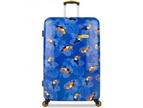 Cestovní kufr B.HPPY BH-1604/3-M - I can Toucan  + PowerBanka nebo pouzdro zdarma