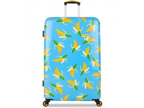 Cestovní kufr B.HPPY BH-1601/3-L - Bananauwch!  + PowerBanka nebo pouzdro zdarma
