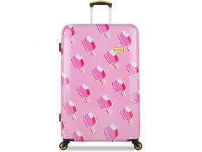 Cestovní kufr B.HPPY BH-1602/3-L - Ice on Holiday  + PowerBanka nebo pouzdro zdarma