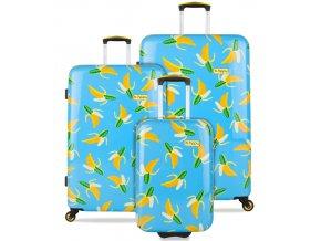 Sada cestovních kufrů B.HPPY BH-1601/3 - Bananauwch!  + PowerBanka nebo pouzdro zdarma