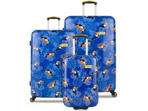Sada cestovních kufrů B.HPPY BH-1604/3 - I can Toucan  + PowerBanka nebo pouzdro zdarma
