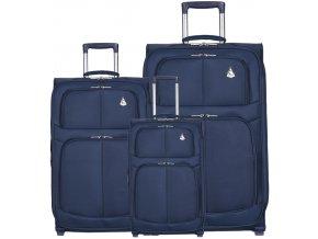 Sada cestovních kufrů AEROLITE T-9613/3 - tmavě modrá  + PowerBanka nebo pouzdro zdarma