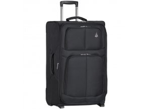 Cestovní kufr AEROLITE T-9613/3-M - černá  + Pouzdro zdarma