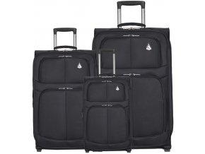 Sada cestovních kufrů AEROLITE T-9613/3 - černá  + PowerBanka nebo pouzdro zdarma