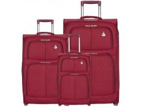 Sada cestovních kufrů AEROLITE T-9613/3 - vínová  + PowerBanka nebo pouzdro zdarma