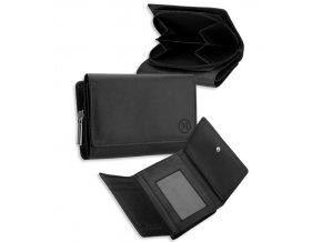 Dámská kožená peněženka METRO P05 - černá