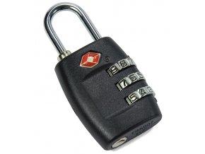 Visací kódový zámek TSA Benzi - černý