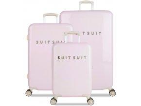 Sada cestovních kufrů SUITSUIT® TR-1221/3 - Fabulous Fifties Pink Dust  + PowerBanka nebo pouzdro zdarma