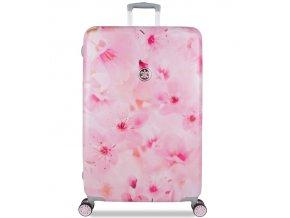 Cestovní kufr SUITSUIT® TR-1224/3-L - Sakura Blossom  + PowerBanka nebo pouzdro zdarma