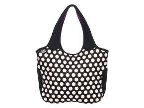 BUILT ESSENTIAL NEOPRENE TOTE BIG DOT BLACK/WHITE