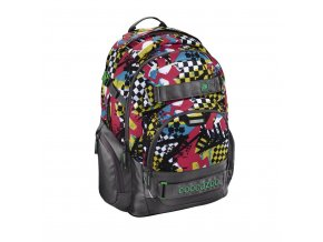 Školní batoh Coocazoo CarryLarry2, Checkered Bolts  + PowerBanka nebo pouzdro zdarma