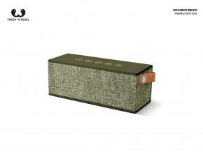 FRESH ´N REBEL Rockbox Brick Fabriq Edition Bluetooth reproduktor, vojenská zelená   + Pouzdro zdarma