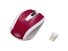 HAMA Bezdrátová optická myš AM-7200, bílo-červená
