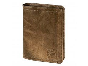Pánská kožená peněženka s ochranou dat CRYPTALOY H4C, HAMA 1923 Mailand, světle hnědá