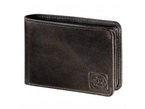 Pánská kožená peněženka s ochranou dat CRYPTALOY H2C, HAMA 1923 Paris, tmavě hnědá