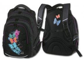 Studentský batoh Butterfly  + Pouzdro zdarma