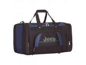 Cestovní taška JEEP 763 Deluxe - černá/modrá