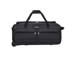 """Cestovní taška na kolečkách JEEP T-555/27"""" - černá  + Pouzdro zdarma"""