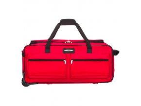 """Cestovní taška na kolečkách JEEP T-555/27"""" - červená  + Pouzdro zdarma"""