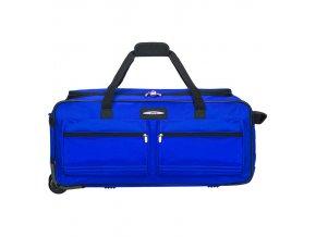 """Cestovní taška na kolečkách JEEP T-555/27"""" - modrá  + Pouzdro zdarma"""