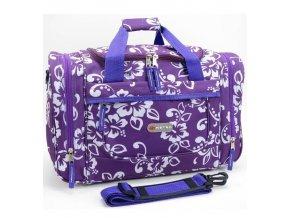 Cestovní taška METRO 6522 Flower - tyrkysová