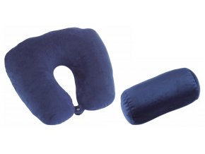Check.In Turn Over Neck Pillow 2 in 1 Black